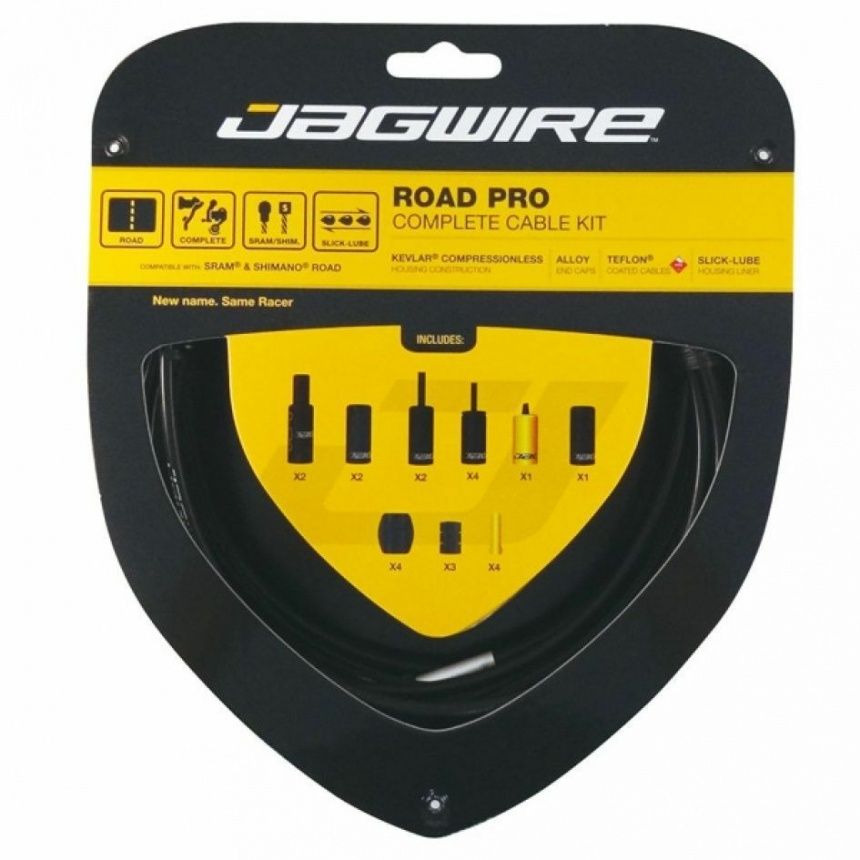 Jagwire Road Pro Complete Road Bike Brake and Gear Cable Set BLACK