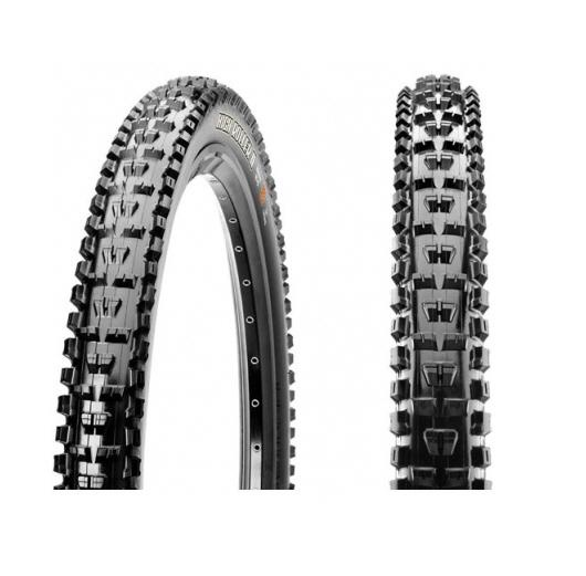 Maxxis High Roller II 26'' MTB Tubeless Ready tyre : 26X2.40 Foldable Bead 60TPI, SINGLE, EXO (Mountain)